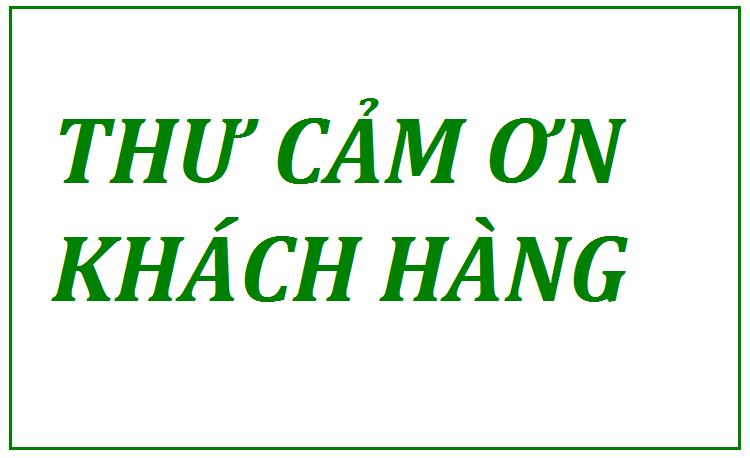 Thư cảm ơn khách hàng của Vĩnh Lộc