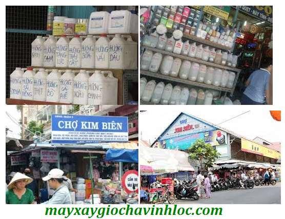 Phụ gia thực phẩm và hương liệu tại chợ Kim Biên không nguồn gốc